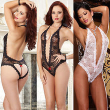Women's Sexy Lingerie Lace Babydoll Dress Underwear Sleepwear Chemise Plus Size