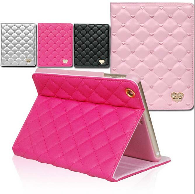For Ipad Air II cases PU leather smart cover high quality rhombus&amp;love heart smart holder cases skin for Ipad Air2 /6 Wholesale<br><br>Aliexpress