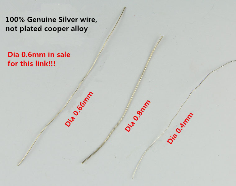 Dia 6mm Solid Sterling Silver 925 Wire 1 Meter Jewelry Findings &amp; Components for DIY Jewelry Making, Genuine Silver Thick Wire<br><br>Aliexpress