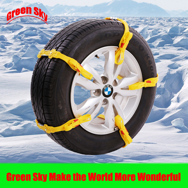 Green Sky Supply 2015 New Arrival Snow/Mud/Ice/Desert Sand/Climbing Road Usage New Arrival car tyre tpu snow chain(China (Mainland))