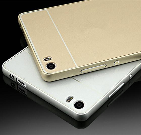2015 Phone cases Huawei Ascend P8 lite case Premium Aluminum Metal Frame & Acrylic Back Cover Set mini - Ebayshop Electronic Co., Ltd store