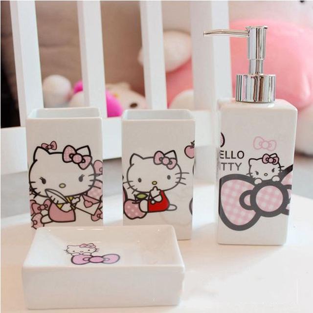 Ceramic Bathroom Set Accessories Bath Kit Banheiro 4PCS/Set Innovative Items Toothpaste Holder Dispenser(China (Mainland))