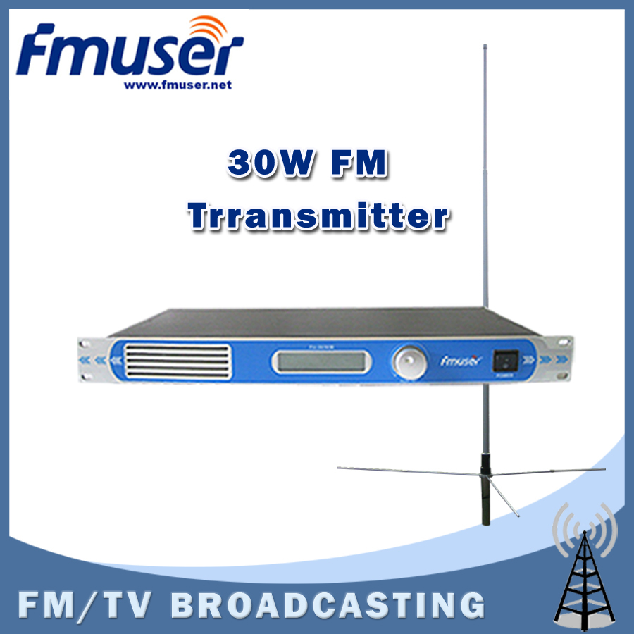 Free shipping FU-30/50B 30W FM transmitter 0-30w adjustable radio broadcaster RDS port CD Sound Quality+1/2 Wave GP antenna KIT<br><br>Aliexpress