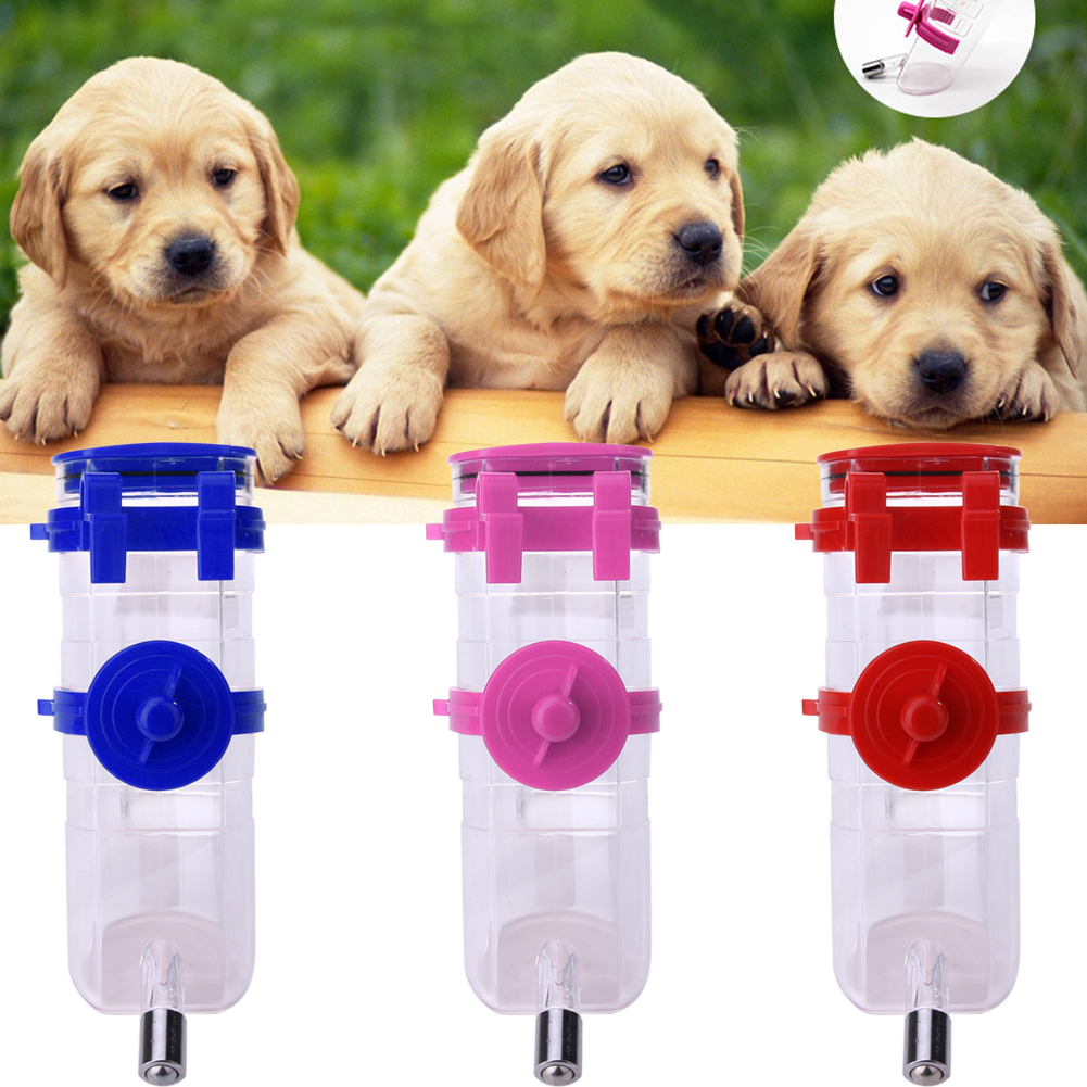 Pet Water Dispenser Dog Cat Animal Water Feeding Auto Drinker Feeder Hanging Fountain Bottle For Home Outdoor NG4S(China (Mainland))