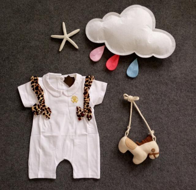Летний Стиль Мужская Romper Младенца Bebes Infantil Новорожденный Девушка Леопард ...