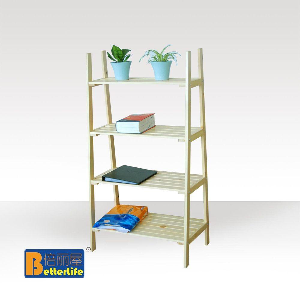 Estilo ikea cuatro pisos de madera escalera estante for Estanterias de cocina ikea