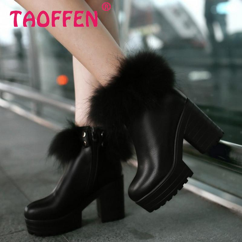 women high heel ankle boots water proof bowknot half short snow winter boot cotton footwear warm botas shoes P19429 size 34-39<br><br>Aliexpress