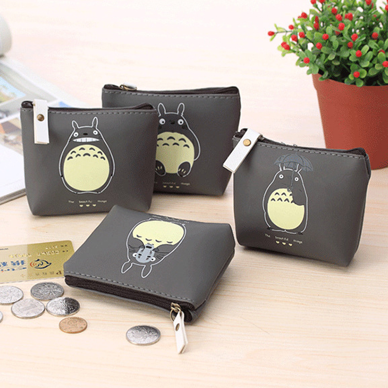 Hot 4 Types Cute Totoro PU Coin Purses Cartoon Lovely Waterproof Mini Storage Bags For Cardholder In-ear Headphone(China (Mainland))