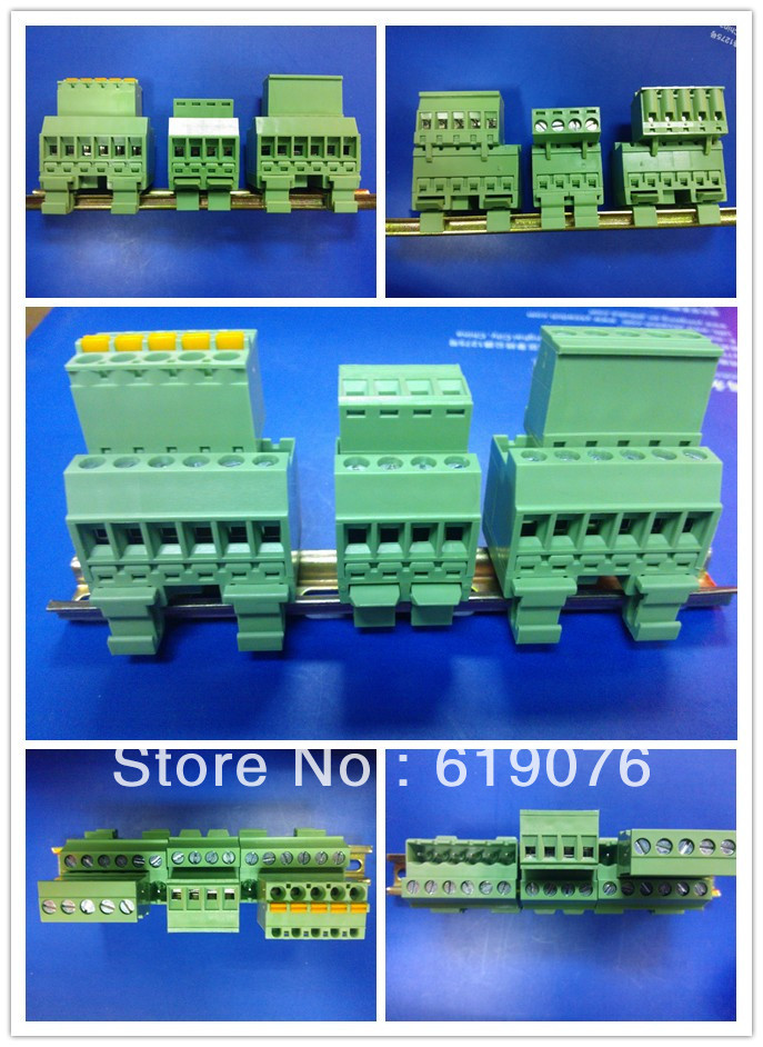 UL approved [ Factory Outlet ] 20pcs Pitch 5.08mm 4 pin Screw Terminal Block connector Din Rail Mount(China (Mainland))
