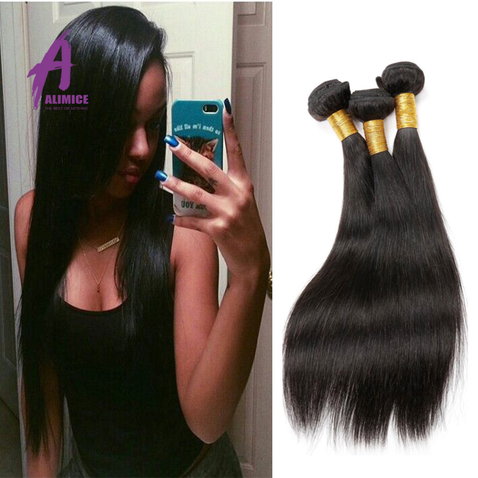 8A Grade Virgin Unprocessed Human Hair Straight Human Hair Weave Brazilian Virgin Remy Hair Bundles Straight Queen Hair Products<br><br>Aliexpress
