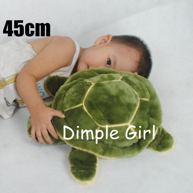 45cm green large size big kawaii undersea plush turtle stuffed animal ocean special soft toys for baby birthday gift decoration(China (Mainland))