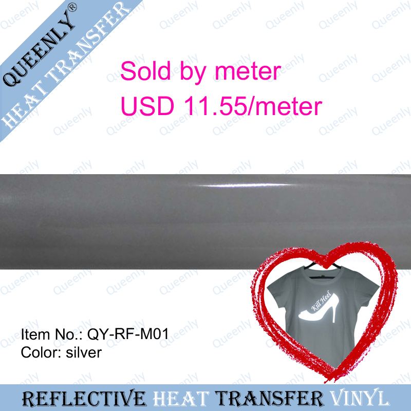 Reflective heat transfer film vinyl sold by meter 5 meters/pack width 50cm(China (Mainland))