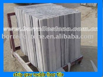 Laizhou Strip Grey Marble Floor Tile and Slab