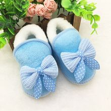 Newborn Infant Bebe Toddler Girls Warm New Bow Snow Shoes Baby Walker Crib Boots(China (Mainland))