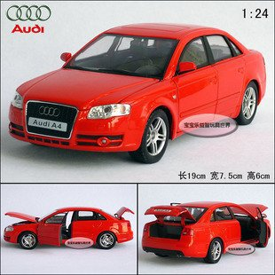 New 1:24 AUDI A4 Alloy Diecast Car Model Toy Collection With Box Red B098(China (Mainland))