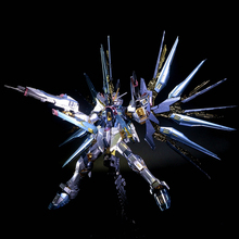 Plating color series BANDAI Gundam Star build Strike Freedom 1/144 model 13 CM Robot Puzzle assembled boy toys Anime gifts