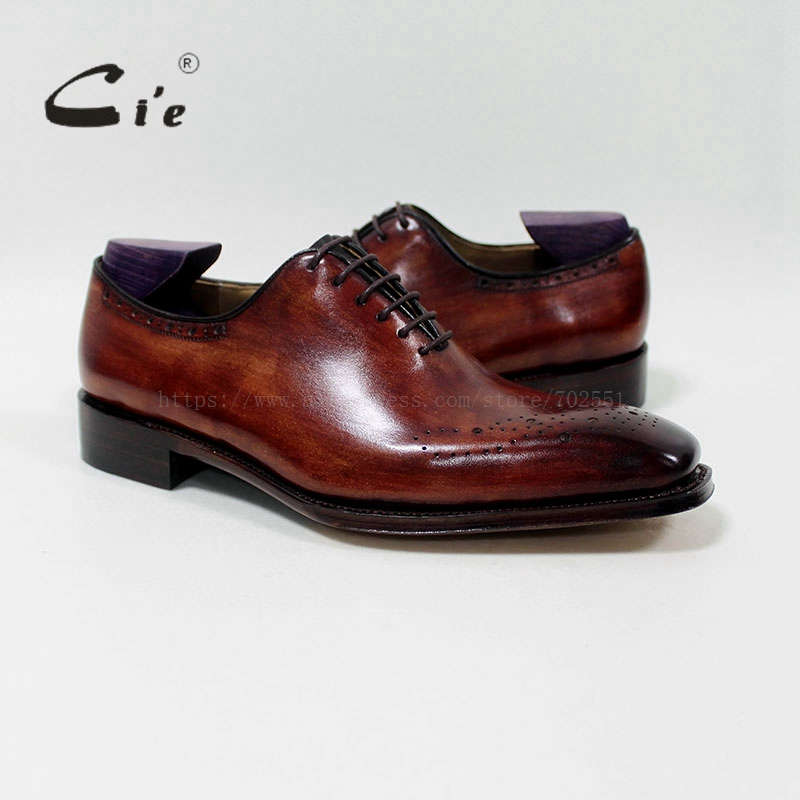 Buy cie square plaintoe patina brown 100 for What is bespoke leather