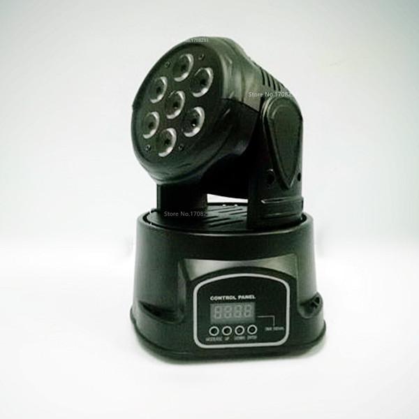 LED Moving Head Mini stage 7x12w RGBW 360 degree Moving Rotating wash light Disco Club DJ Light Show US/EU Plug(China (Mainland))