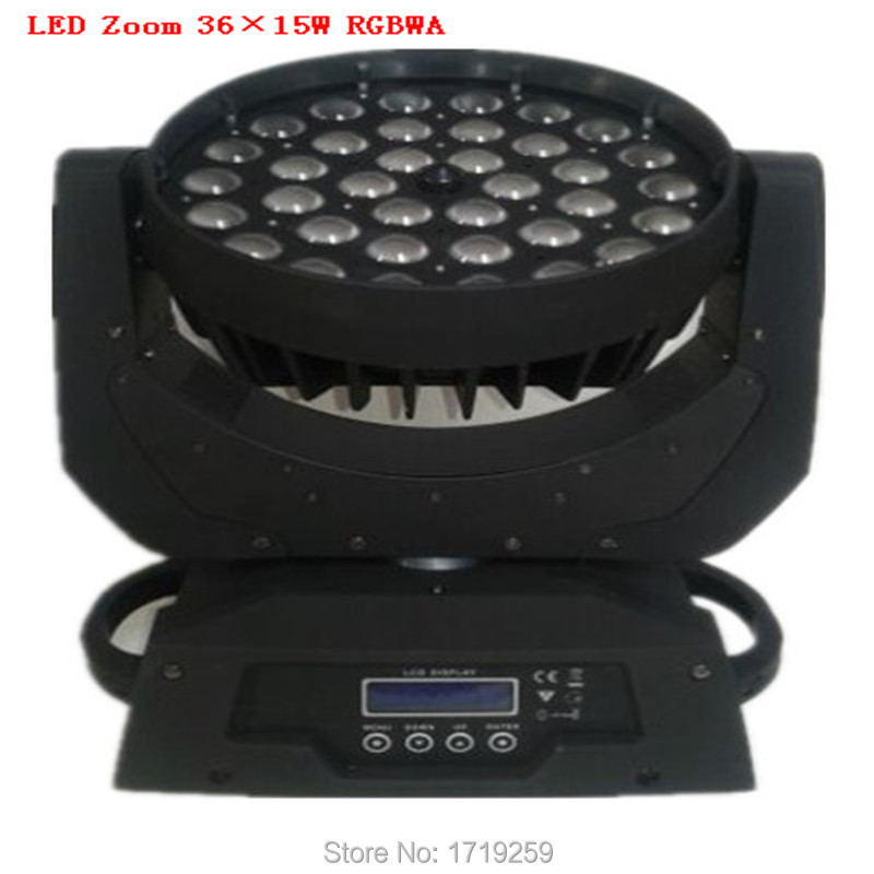 Fast Shipping LED Wash Zoom Moving Head Light 36x15W RGBWA 5IN1 DMX Stage Light Wash Moving Heads(China (Mainland))