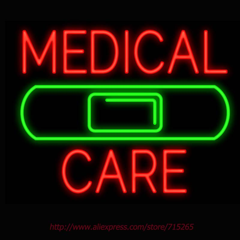 Neon Sign Medical Care Band Aid Real Glass Tube Handcrafted neon signs Custom LOGO Recreation BUSINESS Display ADVERTISE 31X24(China (Mainland))
