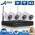 Plug And Play 4CH CCTV System Wireless NVR Kit P2P HD 720P IP Camera WIFI Outdoor
