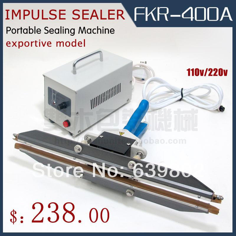 FKR-400A Impulse portable sealers impulse sealing machine CE CERTIFICATE CHINA Transient heating - DM PAKING MACHINE store