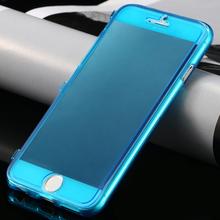 Ультра тонкий тонкий флип чехол для Apple iPhone 6 / 6 S / для iPhone 6 / 6 S плюс мягкий гель тпу прозрачный защитный