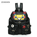Personality robot fashion backpacks men women school bags for teenagers mochila escolar Monster Candy color backpack