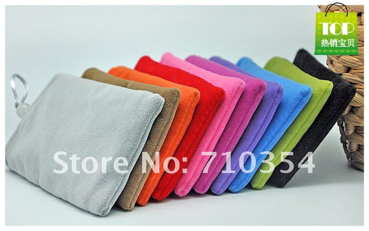 Free Shipping 50pcs/lot Soft Microfiber Sleeve Pouch cotton Bag Case for Samsung Galaxy Note i9220 N7100 for 5.3 inch phones(China (Mainland))