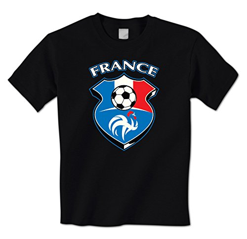 GILDAN France Soccers man t shirt Ball Pride Eurocup Flag Crest French Mens T-Shirt(China (Mainland))