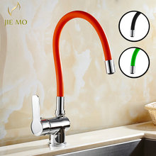 Buy Euro Retro chrome finish Bronze Swivel Singe Handle Bathroom Basin Kitchen Deck Mounted Sink Mixer Tap Faucet 3 color JM5199 for $52.00 in AliExpress store