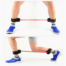Set of 4 Thigh Exercise Latex Tube Resistance Bands Training Leg Ankle Muscle with Tube Ankle Straps