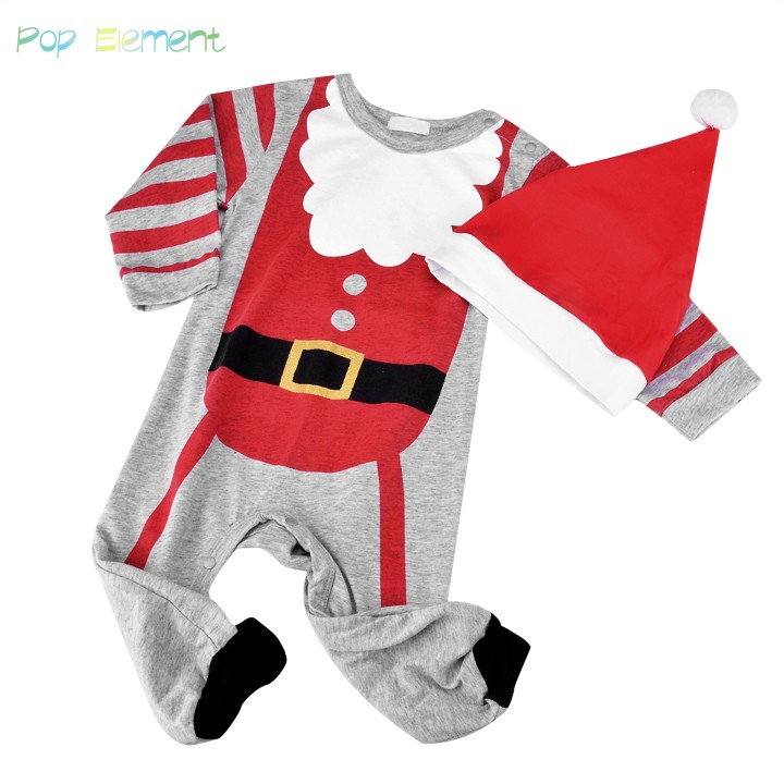 4 Sizes Winter Baby Rompers Costumes Children Wear Baby Climb Clothes Long Sleeve Autumn Rompers Christmas Gifts 50(China (Mainland))