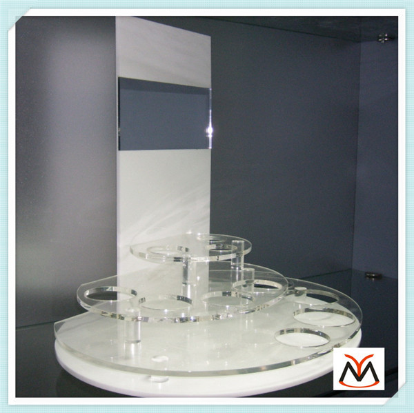 Custom retail shop countertop makeup display,make up display stand,acrylic cosmetic display(China (Mainland))