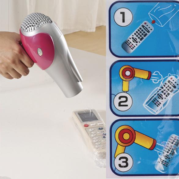 Гаджет  5X Heat Shrink Film TV Air-Conditioner Video Remote Control Protector Cover  NG4S None Электротехническое оборудование и материалы