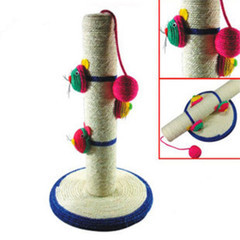 Trendy cat toys natural sisal scratching post mouse for Cat toys for when you re not home