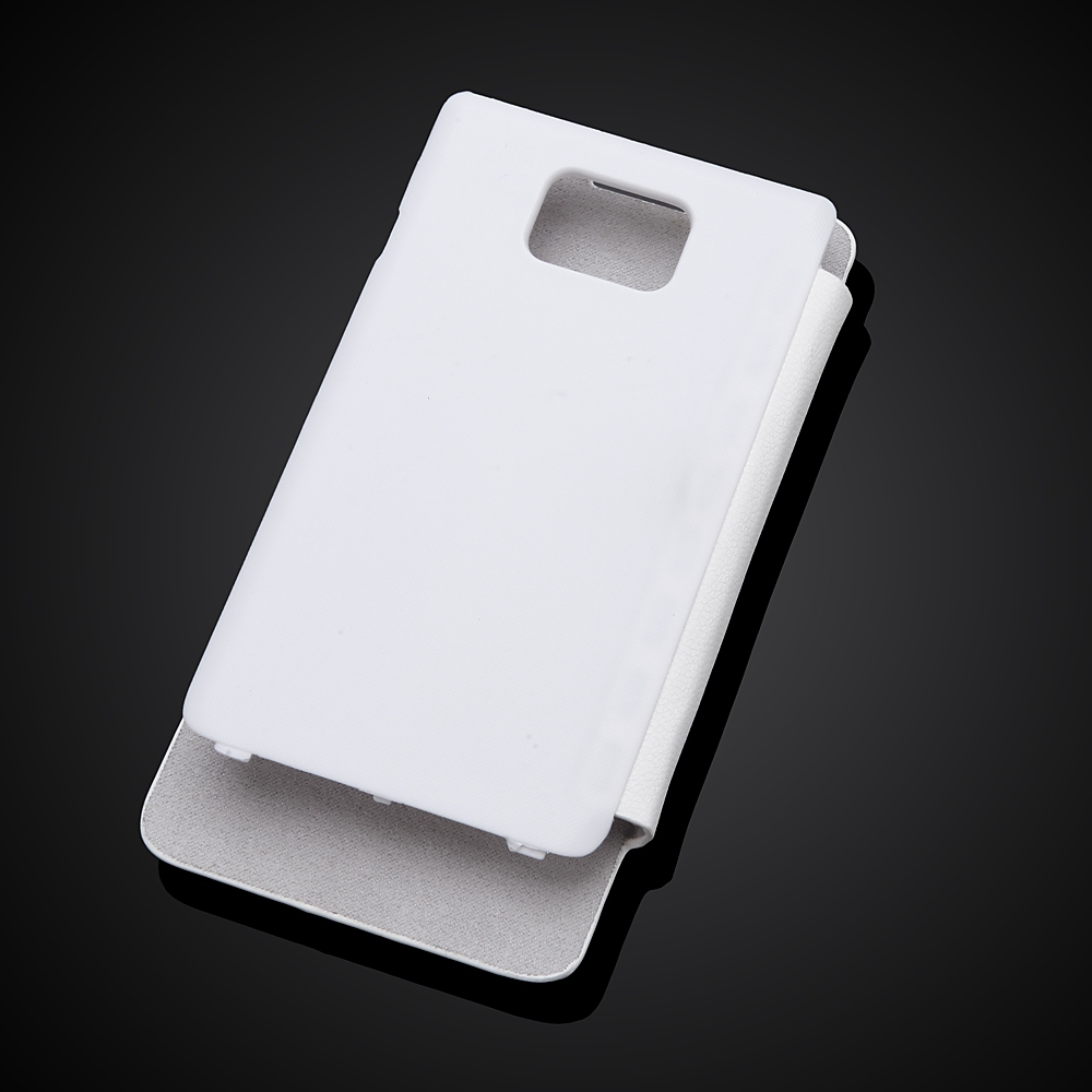 Back Battery Replacement Housing Cover For Samsung Galaxy S2 SII i9100 Flip Leather Mobile Phone Case