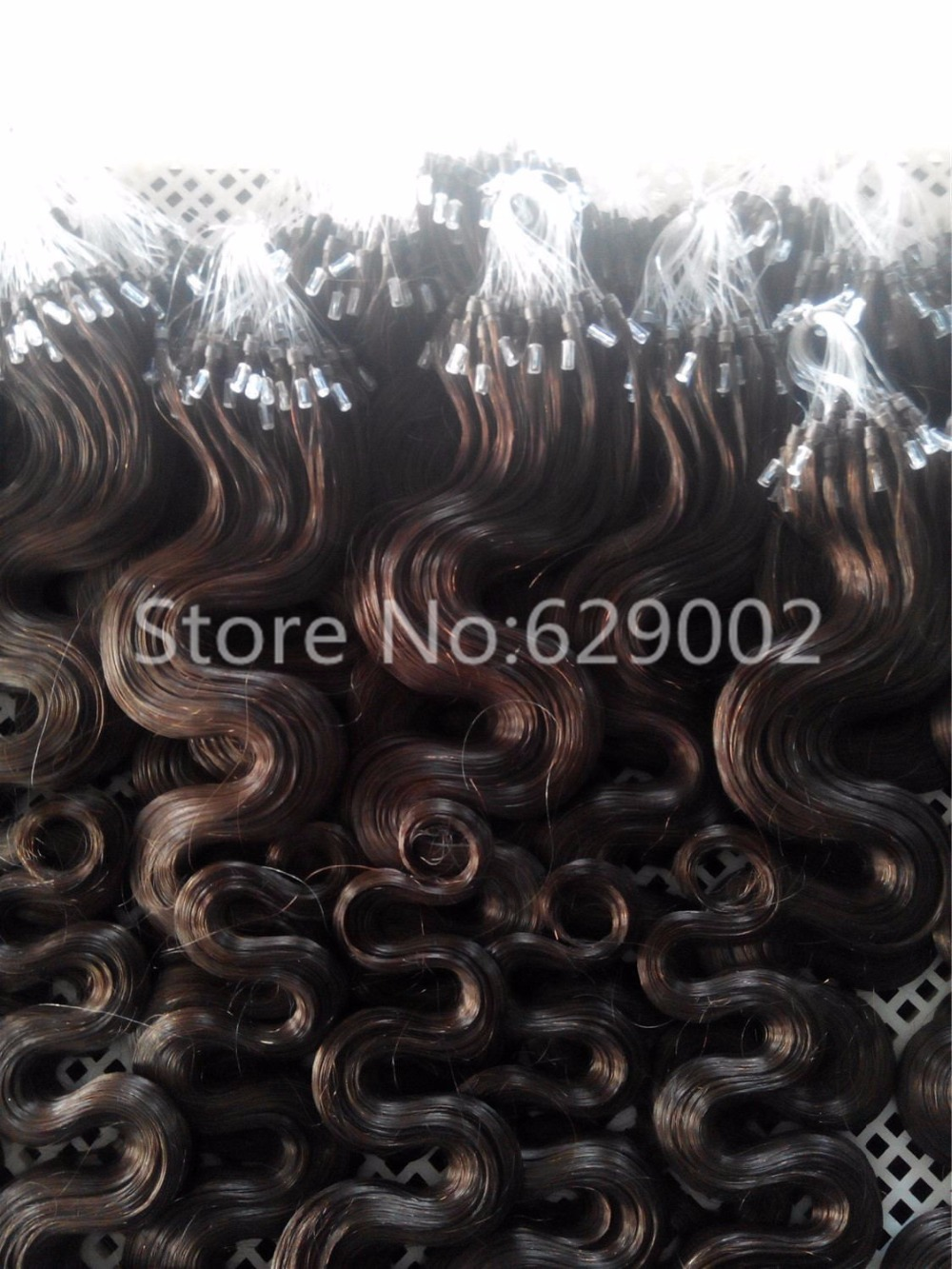 Cheap 100S Wavy Remy Micro Loop Hair Extensions 1g/s 7A Brazilian Body Wave Virgin Micro Ring Hair Extensions Natural Black Hair(China (Mainland))
