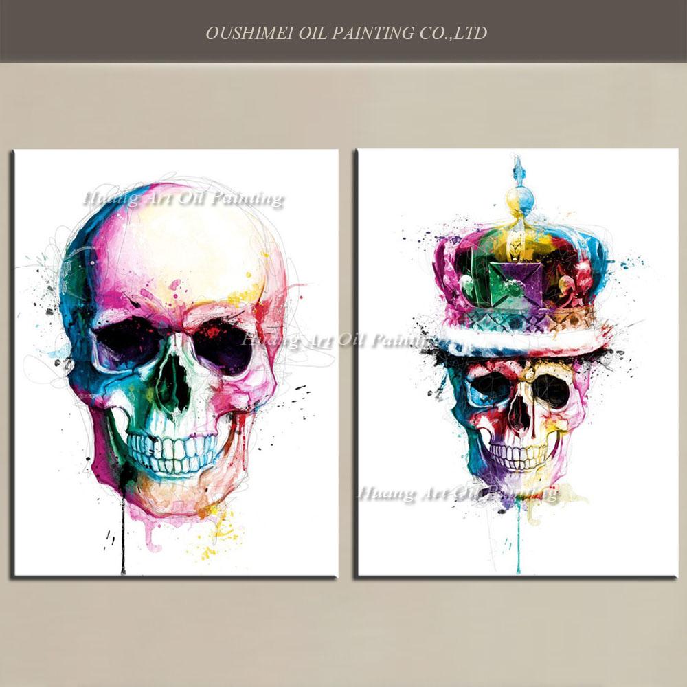 Online kopen wholesale skelet schilderijen uit china skelet schilderijen groothandel for Schilderen moderne volwassen kamer
