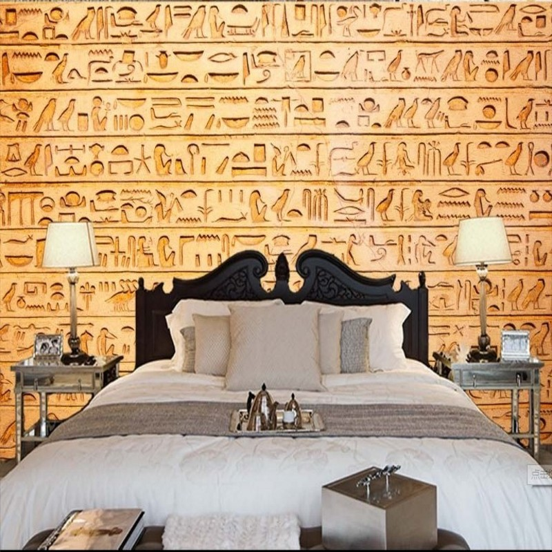Online buy wholesale egyptian wallpaper from china for Egyptian wallpaper mural