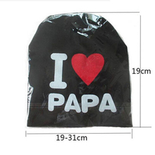 1 Pcs Cute Warm Baby Hat I LOVE MAMA PAPA Knitted Cotton Beanie Cap for Baby