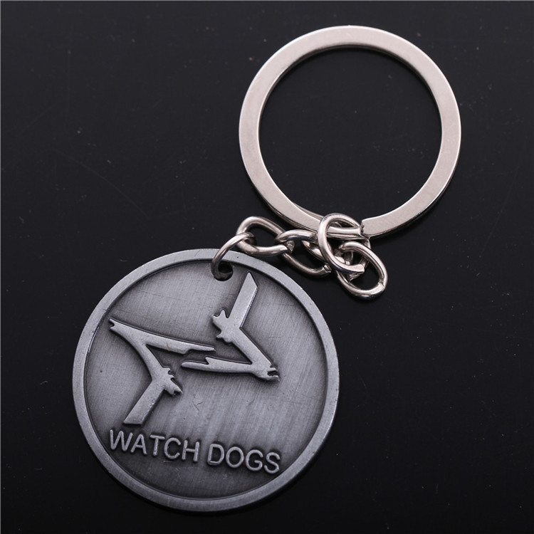 The Watch Dogs Metal tritium men silver watchdog Keychain Key Chain key gold holder chaveiros Key Ring llaveros pareja keyring(China (Mainland))