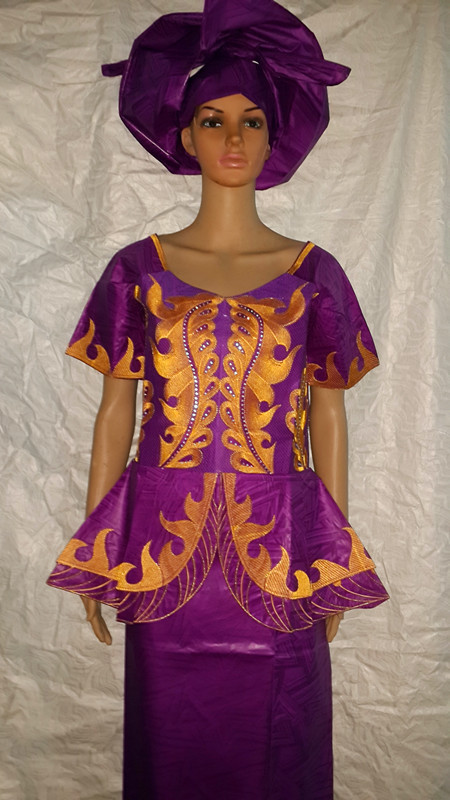 African dresses new bazin riche embroidery dress