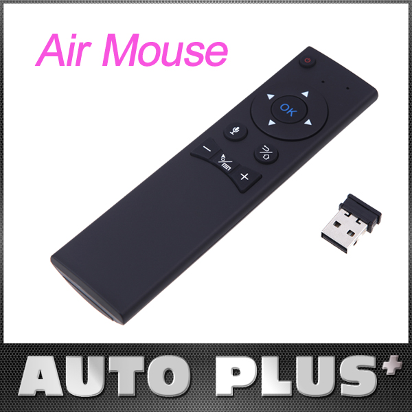 2.4G Wireless Voice Remote Control Air Mouse Controller with USB 2.0 Receiver Adapter for Smart TV Android TV Box Mini PC HTPC(China (Mainland))
