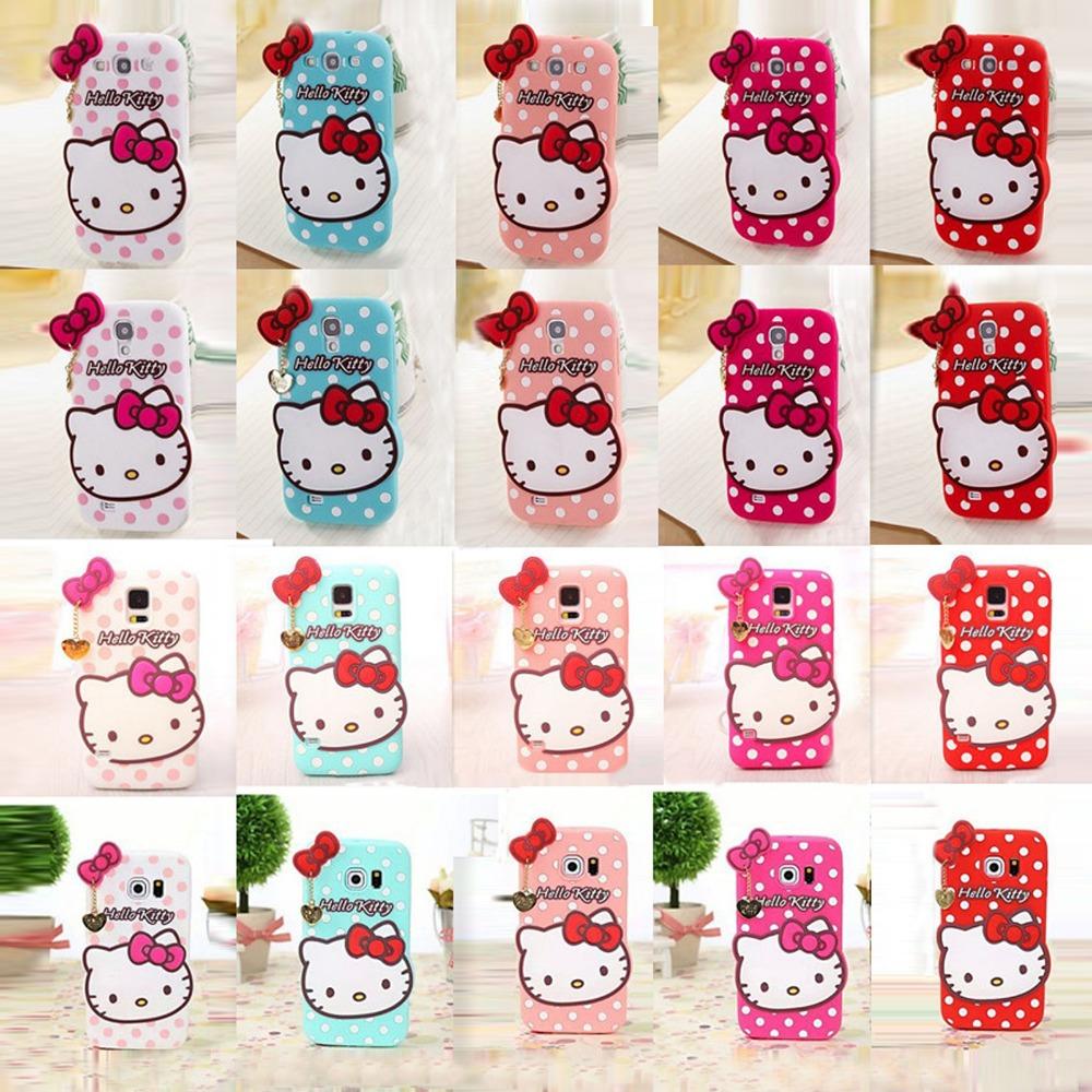 Distributor Silikon Hello Kitty Polkadot Ribbon Murah