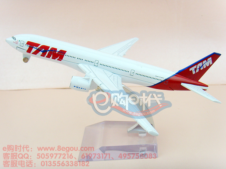 16cm Simulation metal airplane model aircraft model TAM B777-200 airlines air plane model for children toys(China (Mainland))