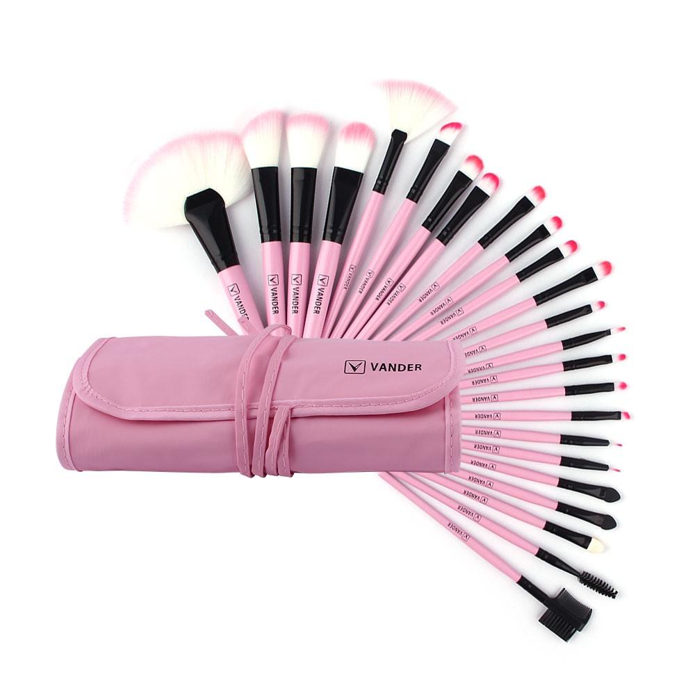 VANDER 24Pcs Makeup Brushes Set Beauty Tools Cosmetics Eyebrow Shadow Powder Pincel Make Up Maquiagem Kits + Pouch Bag (3)