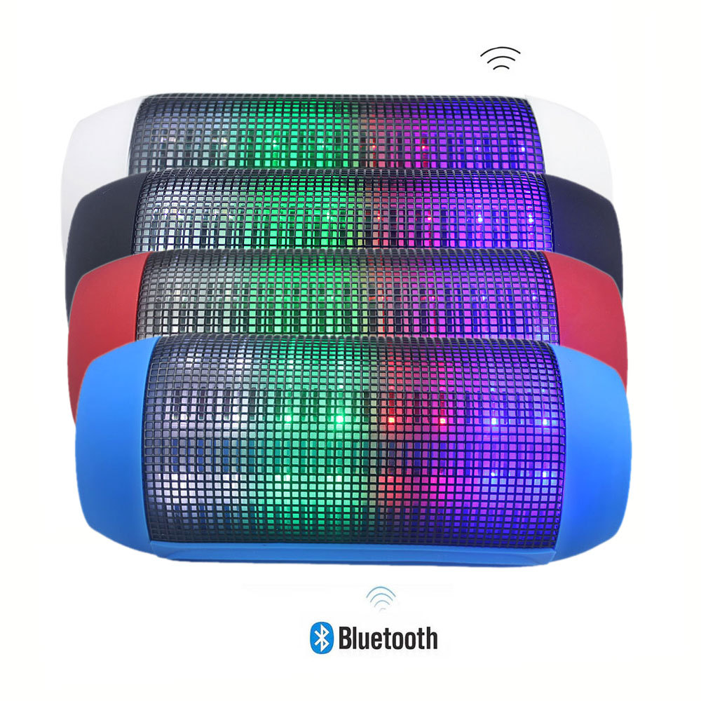 Portable Wireless Bluetooth Speaker 360 LED Lights Speakers Support U-disk and TF card Boombox Speaker For iphone Samsung(China (Mainland))