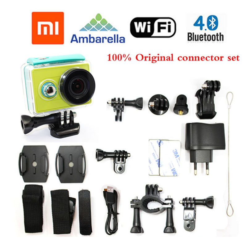 Free Shipping!!Original XiaoMi Yi 40M Waterproof extreme HD Sport Action Cam+Extra 1pcs battery+Battery Charger+Waterproof Case