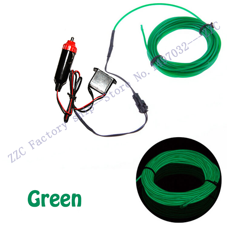 20pcs/lot New 5M Multicolor EL Wire Tube Rope Battery Powered Flexible Neon Light Car Party Decor With Controller Wholesale(China (Mainland))